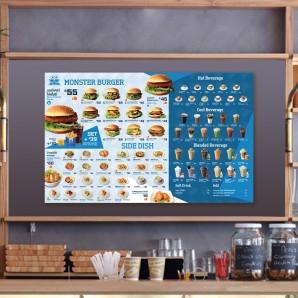 Monster Burger Menu Design